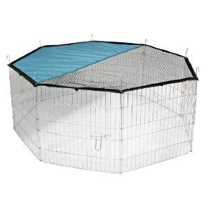 Kerbl 57 x 56 cm Freigehege mit Netz und Tür ab 20€