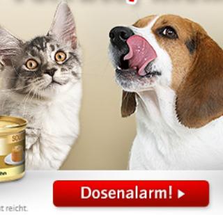 Dosenalarm bei Zooplus - Sparpakete unter 30€