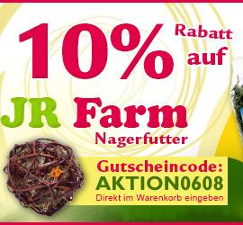 10% auf JR Farm Produkte bei Lucas-Tierwelt.de