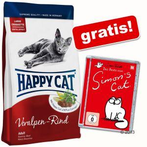 10kg Happy Cat + DVD + Das Beste von Simon´s Cat für 39,99€ - 10% Neukundenrabatt