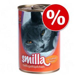 18 x 400 g Smilla Geflügeltöpfchen Mixpaket für 14,99€