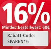 *NUR HEUTE* 16% Rabatt MBW 60€ - bis 22 Uhr