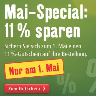 *NUR HEUTE* 11% Rabatt ab einem MBW von 70€