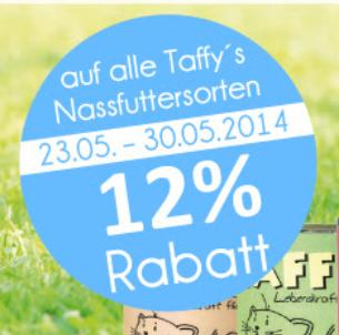 12% auf Taffy's Nassfutter