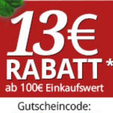 13€ Rabatt bei Zooroyal ab 100€ Mindestbestellwert