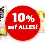 10% Geburtstagsrabatt bei Zooplus