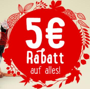 5€ Herbstgutschein bei Zooplus - 49€ MBW