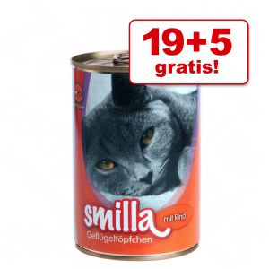 24 x 400g Smilla Geflügeltöpfchen für nur 18,99€