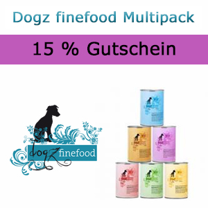 15% Rabatt auf alle Dogz finefood Multipacks bei Petsnature