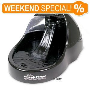 *WEEKEND SPECIAL* Fresh Flow Deluxe Trinkbrunnen Black, 3 Liter und  Hunter Marienkäfer Polsterbürste