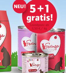 Feringa Futteraktion: z.B. 5 Dosen kaufen und eine gratis erhalten