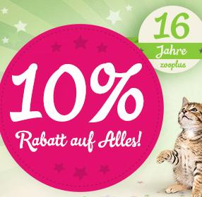 *KNALLER* 10% Rabatt bei zooplus + bis zu 9% Extra-Rabatt!
