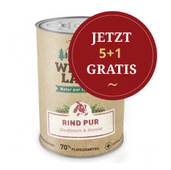5 + 1 Wildes Land Hundefutter Aktion
