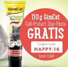 110 g-Tube GimCat Cell-Protect Duo-Paste zum Dazubestellen (MBW 49€) bei zooplus