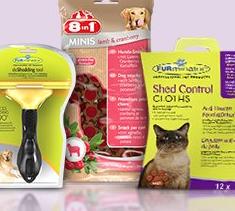 Furminator kaufen und 8in1 Hundesnacks oder Furminator Anti-Haaren-Feuchttücher erhalten