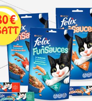 0,80€ Rabatt auf das neue Felix Funsauces