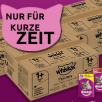 Futterplatz: 30% Rabatt auf Whiskas Megapacks