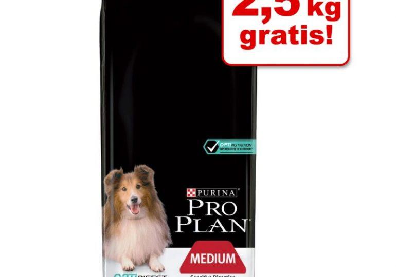zooplus: 15% Rabatt auf Tiernahrung von Pro Plan - z.B. Pro Plan Dog Medium Adult 16,5 KG (Lamm, Trockenfutter) für 42,49€