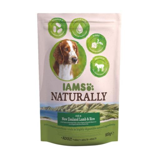 ZooRoyal Wau-Deal des Tages: IAMS Naturally Hund Trockenfutter Adult Lamm & Reis (800g) für 1,99€