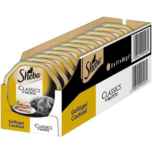 Sheba Nassfutter Classics mit 22 Schalen für 6,06€