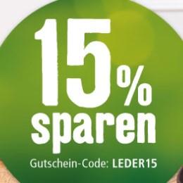 15% Rabatt auf Lederleinen- & Halsbänder