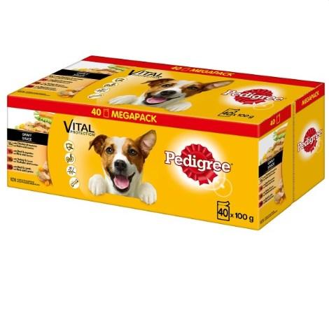 ZooRoyal Wau-Deal des Tages: Pedigree Adult Multipack in Gelee oder Sauce, 40x100g für 8,99€