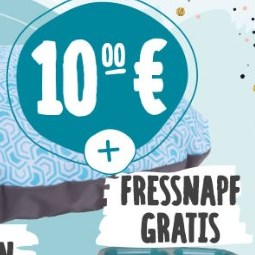ZooRoyal Hundekissen oder D&D Katzenhöhle inkl. gratis Doppelnapf für je 10€