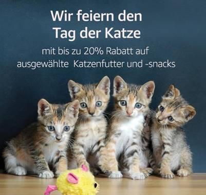 Weltkatzentag: bis zu 20% Rabatt auf ausgewähltes Katzenfutter und -snacks