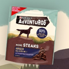 *GRATIS* Purina Adventuros Hundesnack Mini Steaks sichern!