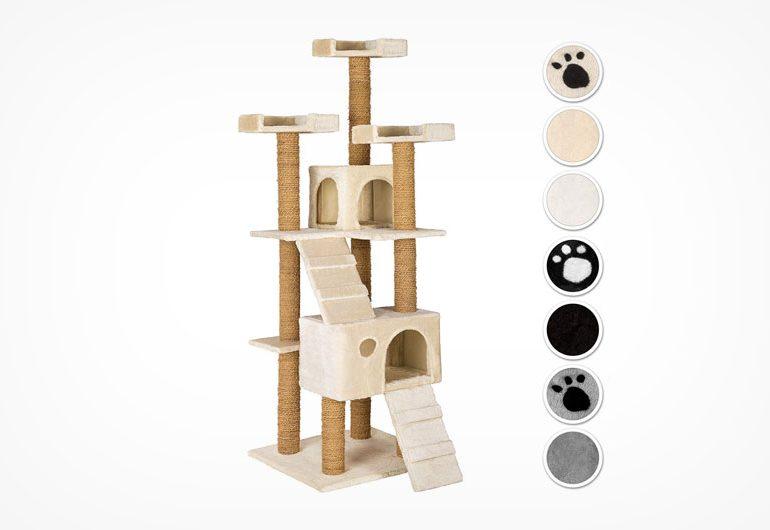 TecTake Kratzbaum 800357 für drei mittelgroße Katzen